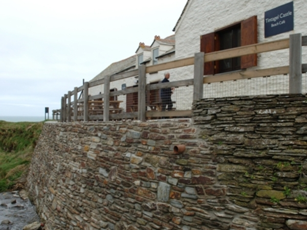 Tintagel Castle Retaining Wall